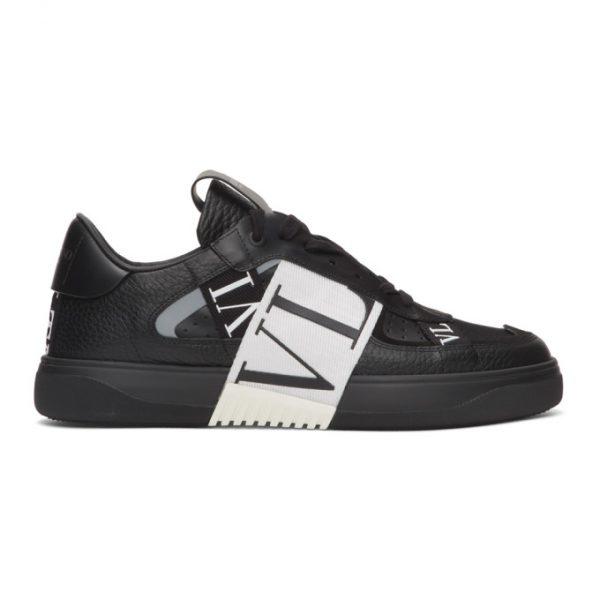 Valentino Black and White Valentino Garavani VL7N Sneakers