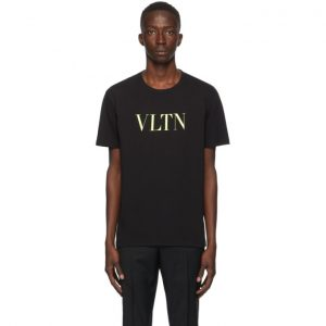 Valentino Black and Yellow VLTN T-Shirt