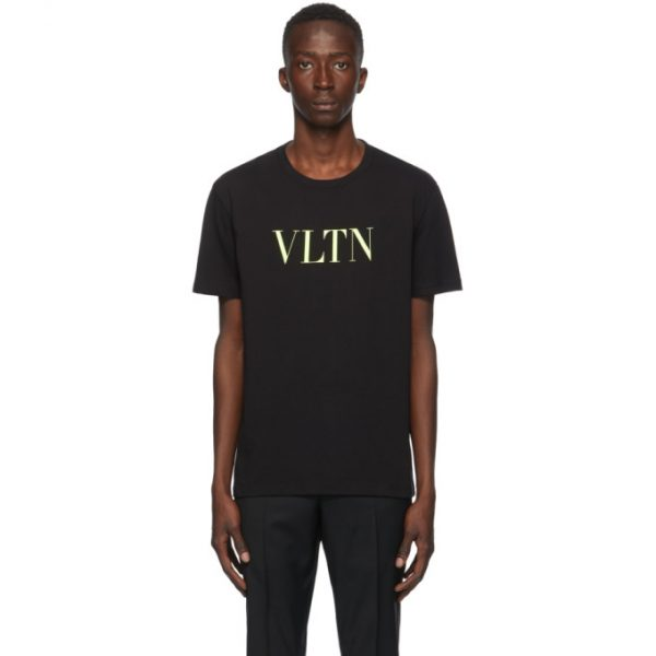 Valentino Black and Yellow VLTN T-Shirt