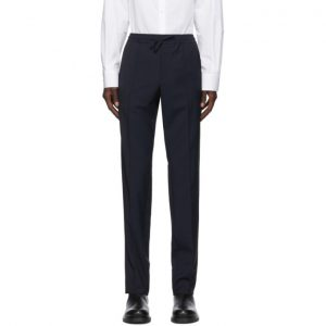 Valentino Navy Mohair Piping Trousers