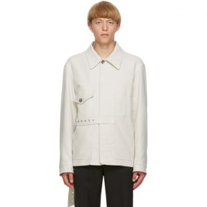 Valentino Off-White Belted Jacket