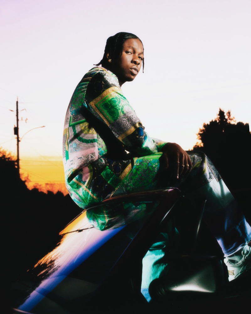 Nigerian singer-songwriter Runtown fronts Versace's holiday 2020 campaign.