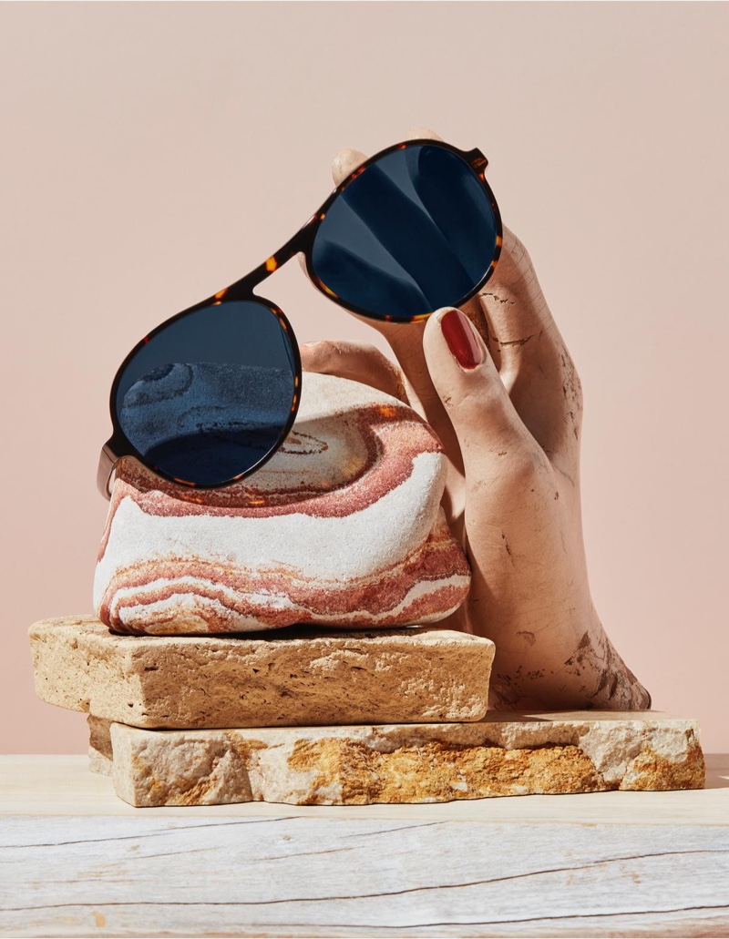 Warby Parker Tallulah sunglasses in Burnt Honeycomb Tortoise