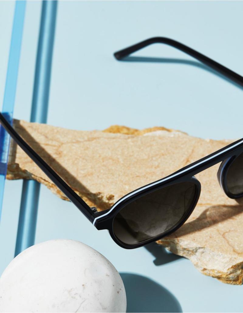 Warby Parker Dorian sunglasses in Ebony Fog Eclipse