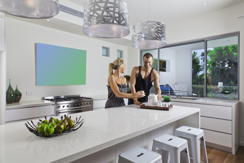 Young Couple Nice Modern Kitchen