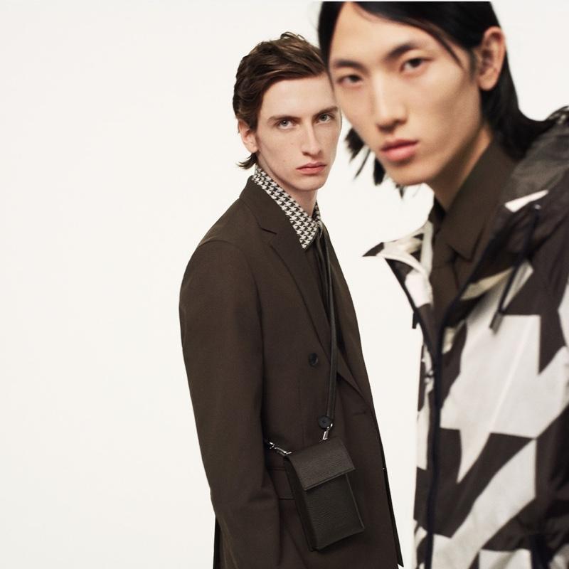 Benno Bulang and Meng Yu Qi front BOSS's fall-winter 2020 men's campaign.
