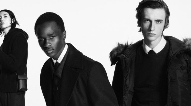 Meng Yu Qi, Malick Bodian, and Benno Bulang star in BOSS's fall-winter 2020 men's campaign.
