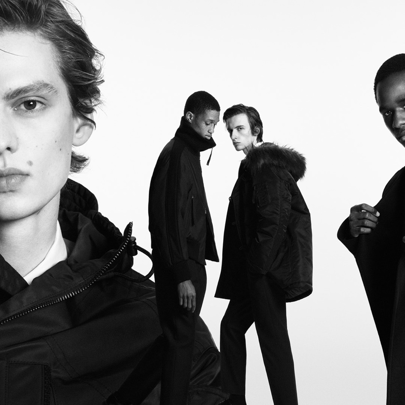 Leon Dame, Romaine Dixon, Benno Bulang, and Malick Bodian come together for BOSS's fall-winter 2020 men's campaign.