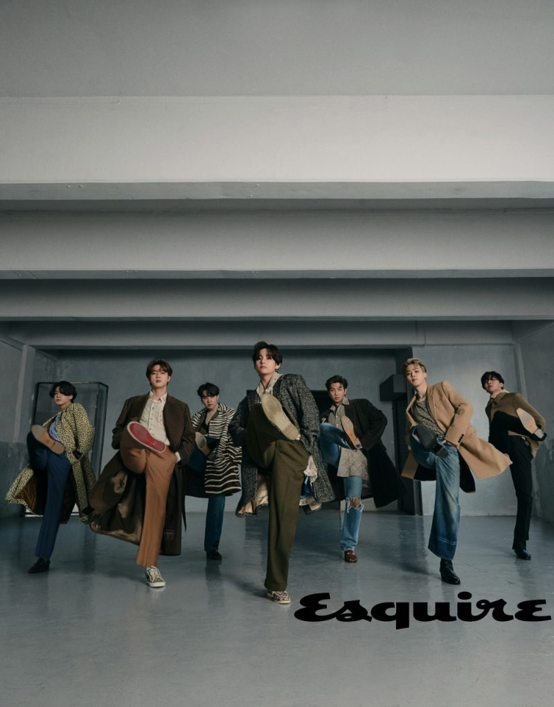 Making a sartorial statement, BTS appears in the most recent issue of Esquire magazine.