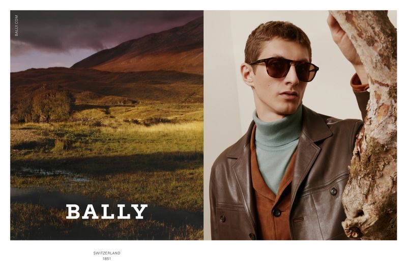 Front and center, Henry Kitcher appears in Bally's fall-winter 2020 men's campaign.