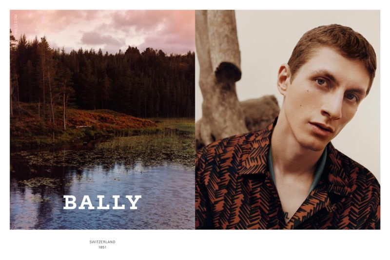 Harley Weir photographs Henry Kitcher for Bally's fall-winter 2020 men's campaign.