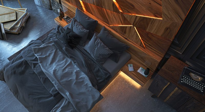 Bed with Backlight