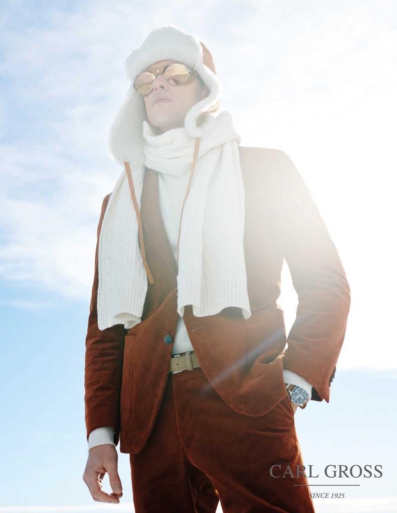 Filip & Bertil Embrace Sartorial Alpine Style for Carl Gross