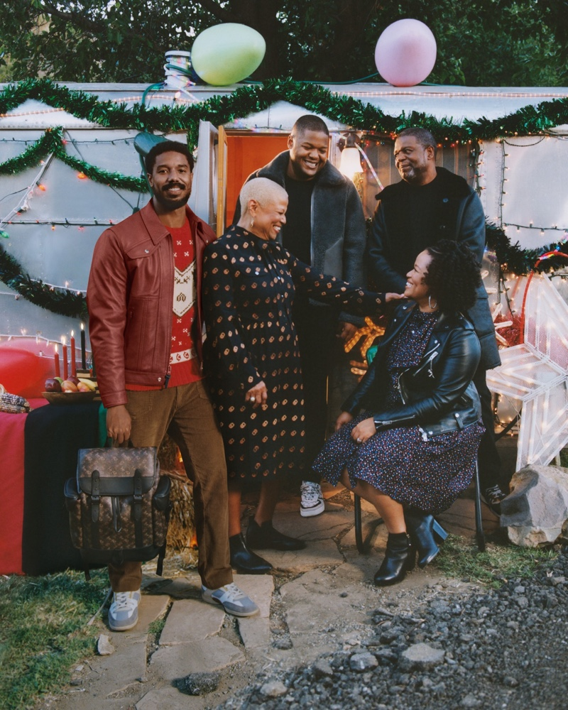Actor Michael B. Jordan shares the spotlight with his family for Coach's holiday 2020 campaign.