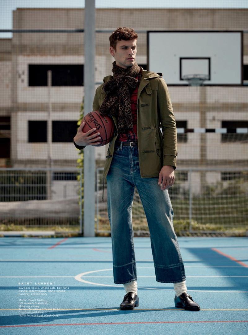 David Stunts in Designer Fashions for Esquire Czech