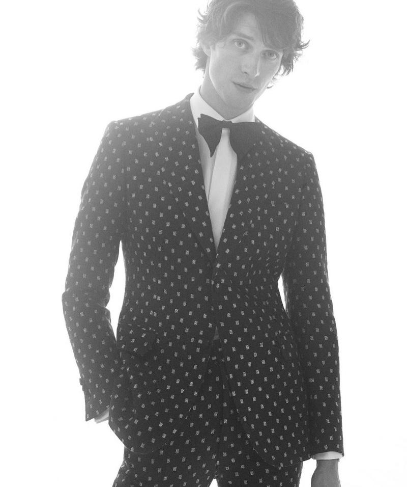 British model Matthew Bell appears in De Fursac's fall-winter 2020 campaign.