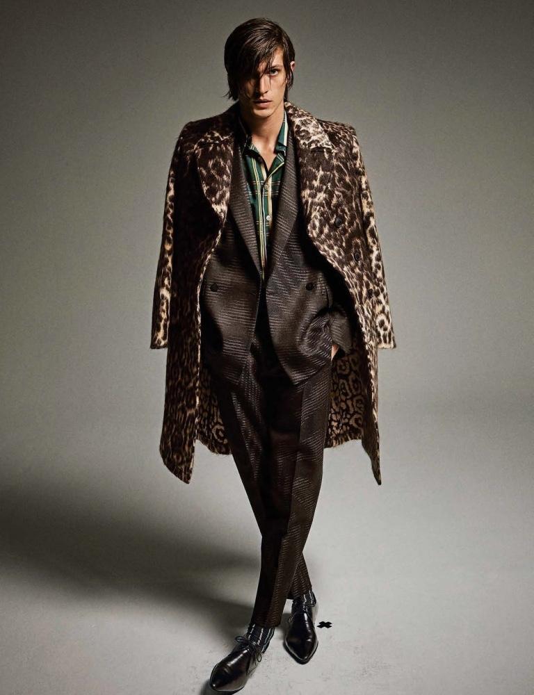 Edoardo Channels Rock 'n' Roll Elegance for Style Magazine Italia