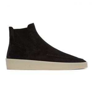 Fear of God Black Suede Chelsea Boots