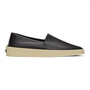 Fear of God Ermenegildo Zegna Black Smooth Espadrilles