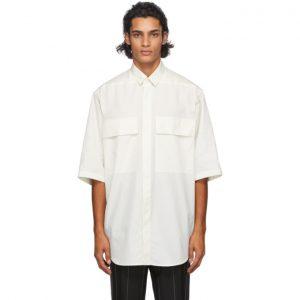 Fear of God Ermenegildo Zegna Off-White Cotton Short Sleeve Shirt