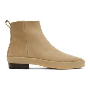 Fear of God Tan Nubuck Chelsea Boots