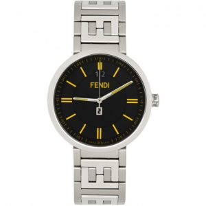 Fendi Silver and Black Forever Fendi Watch