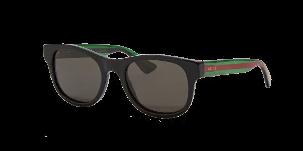 Gucci Man GG0003S - Frame color: Black, Lens color: Grey-Black, Size 52-21/145