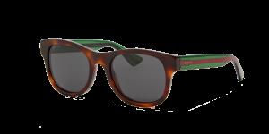 Gucci Man GG0003S - Frame color: Tortoise, Lens color: Grey-Black, Size 52-21/145