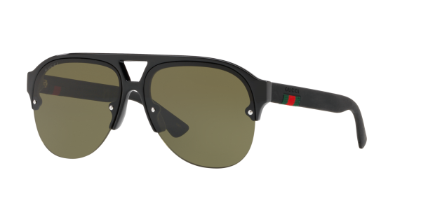 Gucci Man GG0170S - Frame color: Black, Lens color: Green, Size 59-13/145