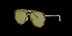 Gucci Man Gg0672s - Frame color: Gold, Lens color: Green