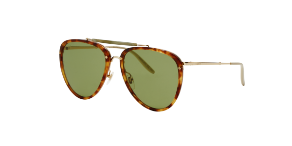 Gucci Man Gg0672s - Frame color: Gold, Lens color: Green