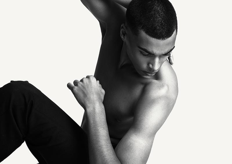 Jerome wears trousers by Sandro.