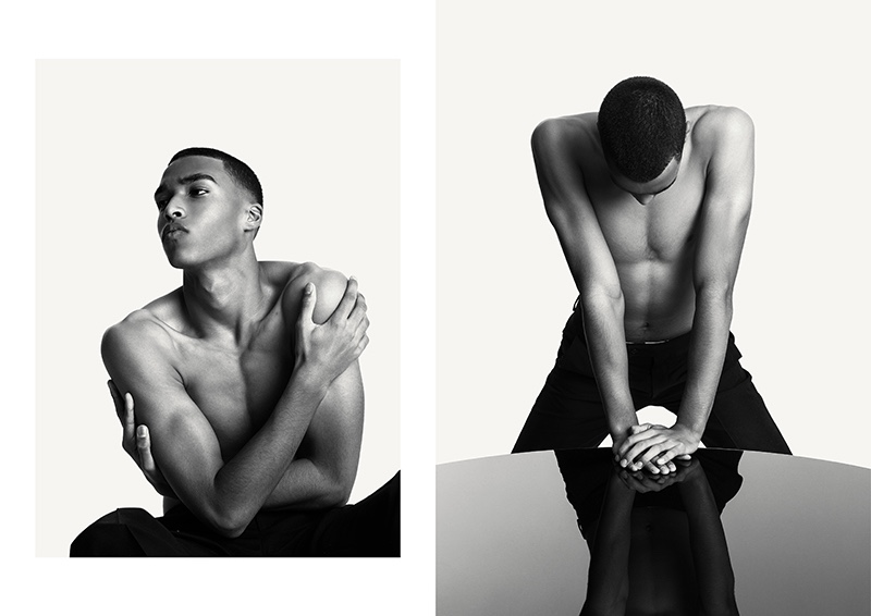 Fresh face Jerome hits the studio with photographer Dennis Weber.