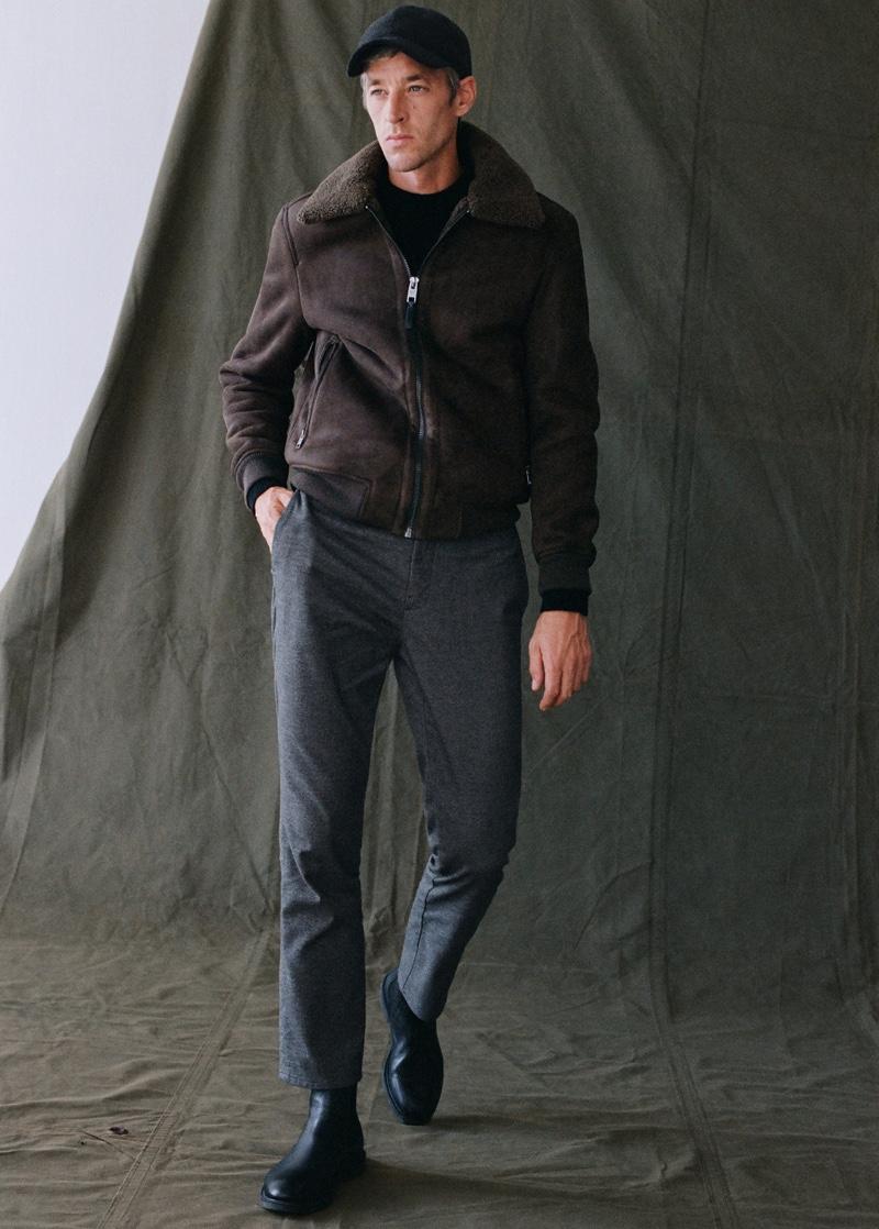Joel Models Sophisticated Styles from Mango