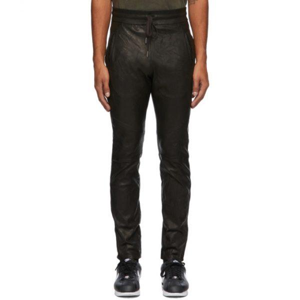 John Elliott Black Leather Escobar Pants