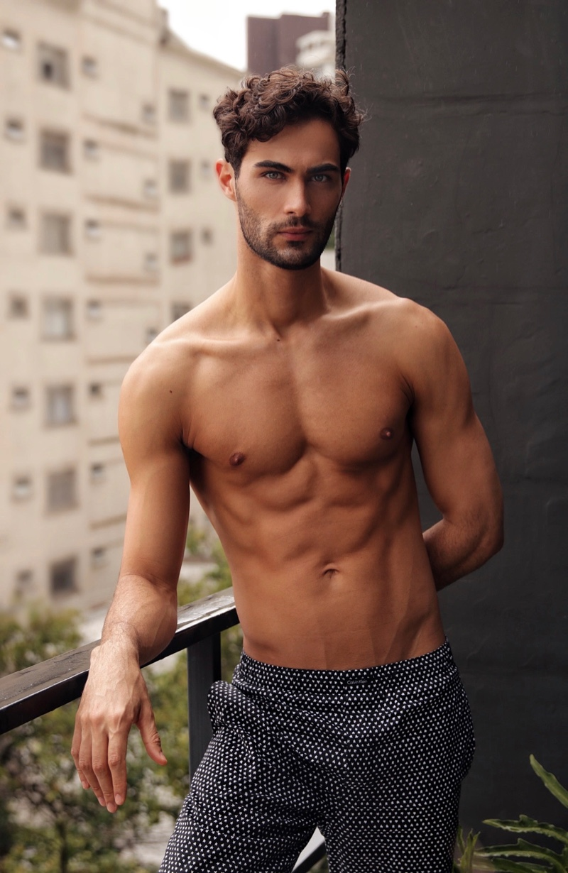 Model Lucas Alves photographed by Habib Caiado