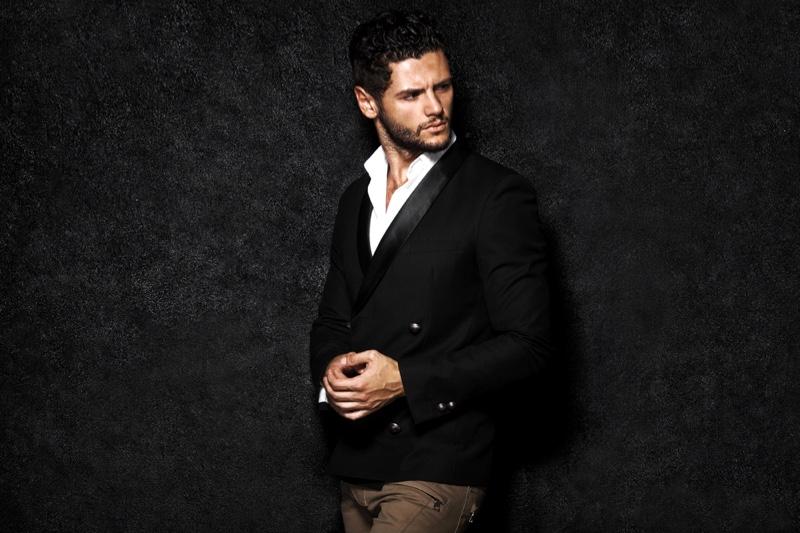 Male Model Blazer Stylish Outfit