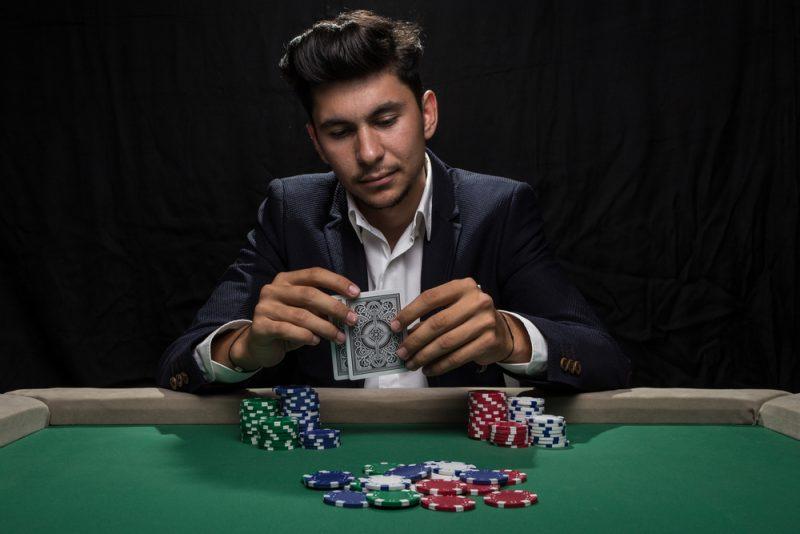 Man at Poker Table