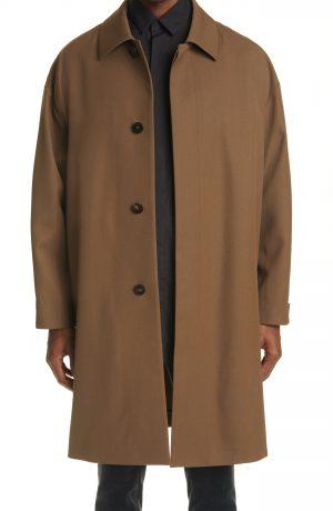 Men's Fear Of God X Ermenegildo Zegna Wool Trench Coat, Size 36 US - Brown