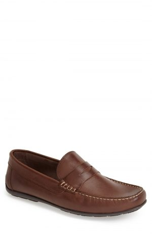 Men's Sandro Moscoloni 'Paris' Leather Penny Loafer, Size 8 D - Brown