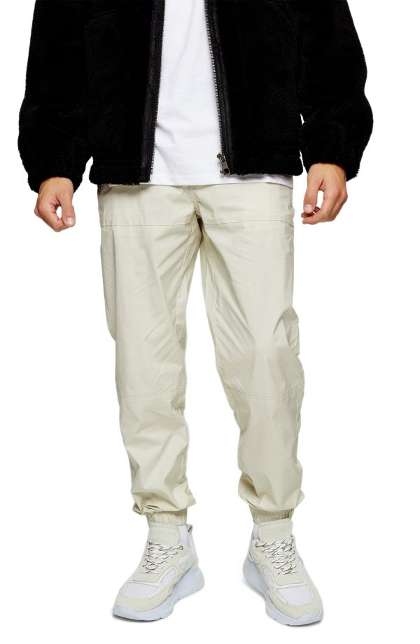 Men's Topman Relaxed Stretch Cotton Pants, Size 28 x 32 - Ivory