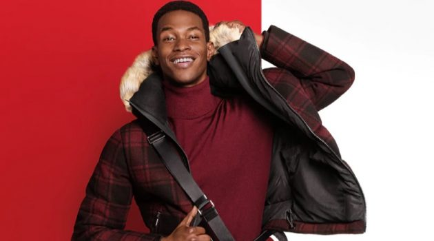 Salomon Diaz stars in Michael Kors' holiday 2020 campaign.