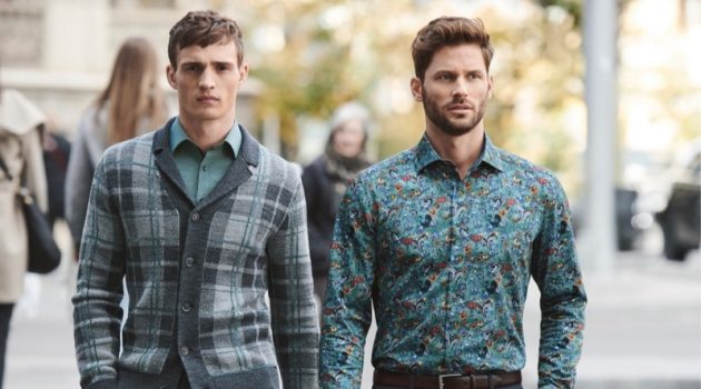OLYMP enlists models Julian Schneyder and Samuel Trepanier to front a fall outing in Barcelona.
