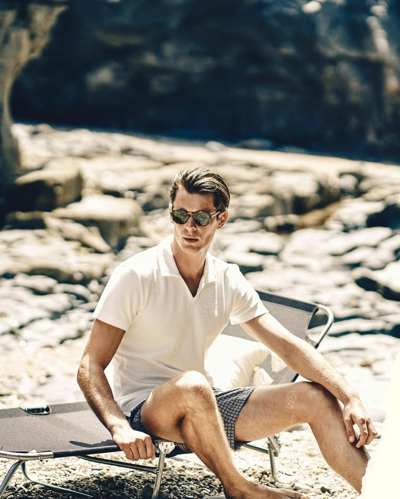Will & Lewis Holiday in Latest Orlebar Brown Arrivals