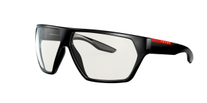Prada Linea Rossa Man PS 08US - Frame color: Black, Lens color: Clear Ext Ar Blue, Size 67-12/130