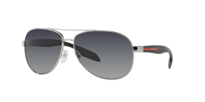 Prada Linea Rossa Man PS 53PS - Frame color: Silver, Lens color: Polarized Grey Gradient, Size 62-14/135