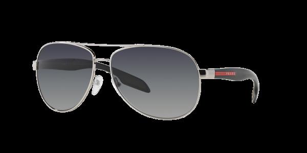 Prada Linea Rossa Man PS 53PS - Frame color: Silver, Lens color: Polarized Grey Gradient, Size 62-14/135