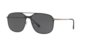 Prada Linea Rossa Man PS 53TS - Frame color: Black, Lens color: Grey, Size 56-16/140