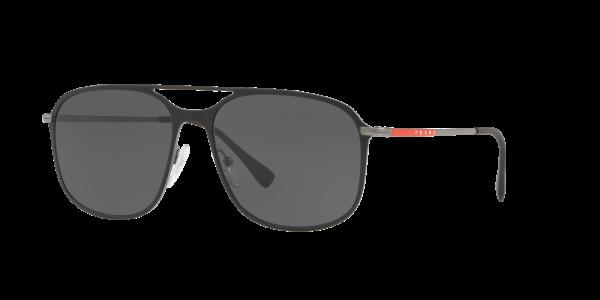Prada Linea Rossa Man PS 53TS - Frame color: Black, Lens color: Grey, Size 56-16/140
