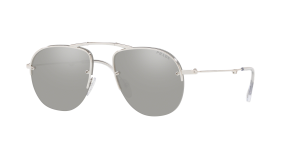 Prada Man PR 54US - Frame color: Silver, Lens color: Grey